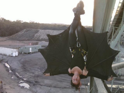 Bat girl stops coal mine