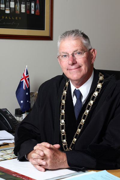 Bob Pynsent in mayoral robes