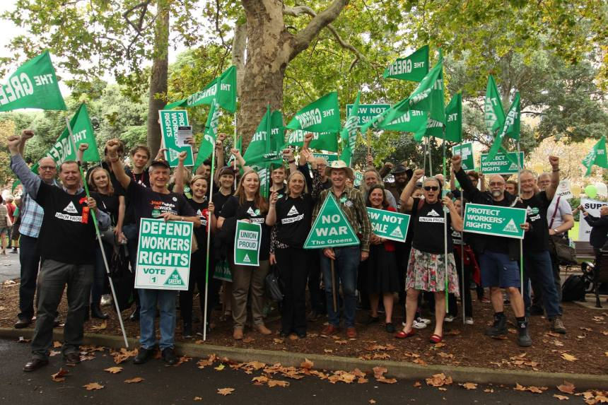 May Day Rally 2016 - Greens contingent