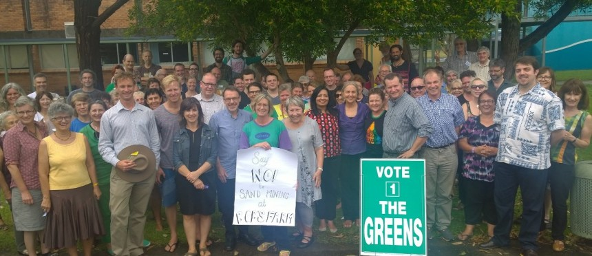NSW Greens candidate in Ballina December 2014